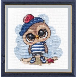 Cross stitch kit Owl Sailor art. 1264