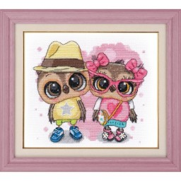 Cross stitch kit First Love (owls) art. 1266