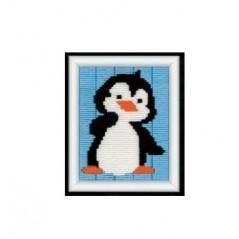 Embroidery Kit in technics long stitch Penguin art. 1270/1224