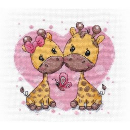 Cross Stitch Kit Giraffes in Love art. 1275
