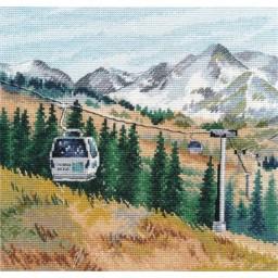 Cross Stitch Kit Mount Chimbulak art. 1284