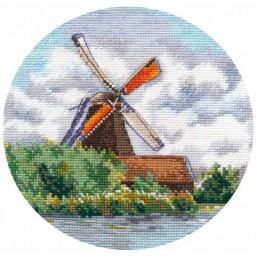 Cross Stitch Kit Miniature. Windmill art. 1297