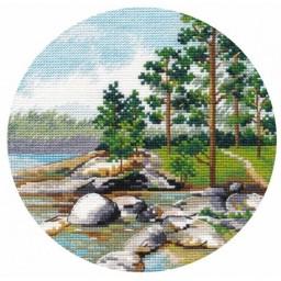 Cross Stitch Kit Miniature. Ladoga Shore art. 1298