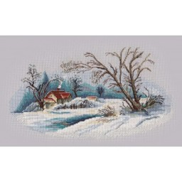 Cross Stitch Kit Winter Landscape art. 1300