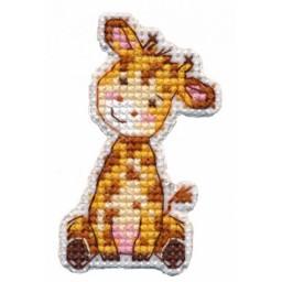 Cross Stitch Kit Badge-Giraffe art. 1320