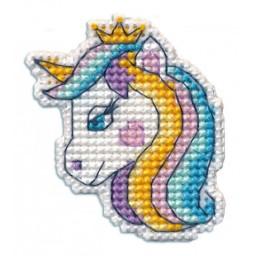 Cross Stitch Kit Badge-UNICORN art. 1350 Pre-order