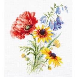 Cross Stitch Kit Bouquet With Poppy art. 2-48