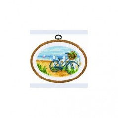 Cross Stitch Kit Bicycle Rest 2012/74096 including plastic frame