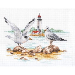 Cross Stitch Kit Seagulls art. 3-30