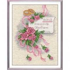 Cross Stitch Kit Wedding Sampler art. 522