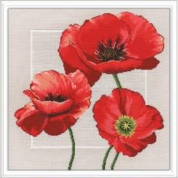 Cross Stitch Kit Poppy art. 548