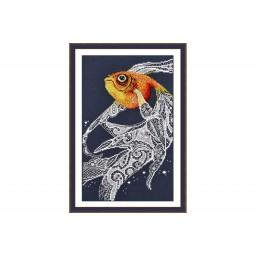 Cross Stitch Kit Gold fish art. 741