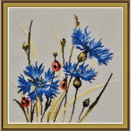 Cross Stitch Kit Cornflowers art. 799