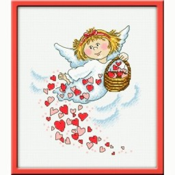 Cross Stitch Kit I give the love art. 876