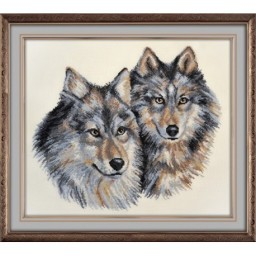 Cross Stitch Kit Grey Wolves art. 891