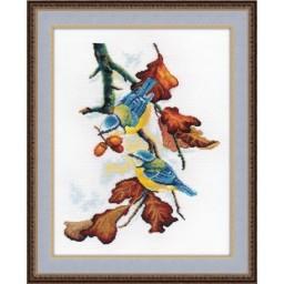 Cross Stitch Kit Blue Tits art. 910