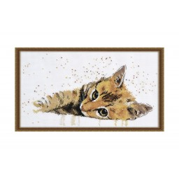 Cross stitch kit Sluggard (cat) art. 929