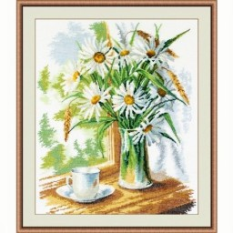 Cross Stitch Kit Chamomile on the window art. 946