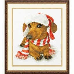 Cross Stitch Kit Christmas Dachshund art. 991