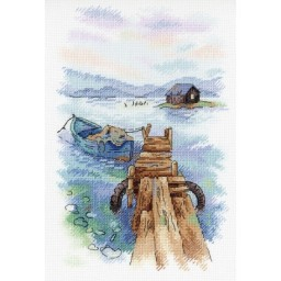 Cross Stitch Kit MORNING AT THE QUAY A-007