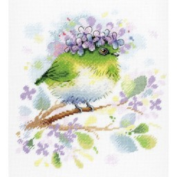Cross Stitch Kit ON THE LILAC BRANCH A-013 Pre-order