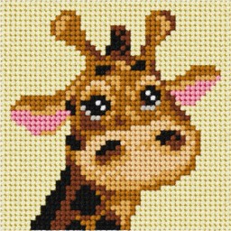 Embroidery Needlepoint kit My first embroidery Giraffe art. 6722
