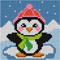 Embroidery Needlepoint kit My first embroidery Penguin art. 6732
