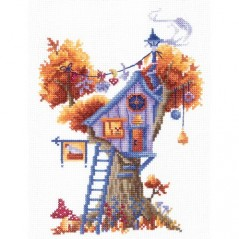Cross Stitch Kit TREE HOUSES. ENIGMATIC SAND-20 Pre-order