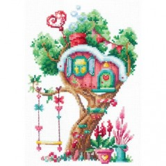 Cross Stitch Kit TREEHOUSES. SWEET SAND-21 Pre-order