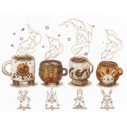 Cross Stitch Kit Coffee Keepers C-05