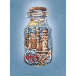 Cross Stitch Kit Train To A Fairytale P-48