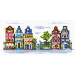 Cross Stitch Kit Peaceful Street T-12