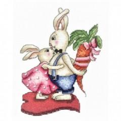Cross Stitch Kit Bunnies. Love and Carrots B-38