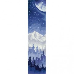 Cross Stitch Kit BOOKMARK. MOON OVER THE FOREST SANZ-48