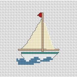 Cross Stitch Kit Boat B017