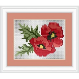 Cross stitch kit Poppies B023