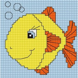 Cross Stitch Kit for beginners Fish B080