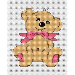 Cross Stitch Kit Teddy Bear B087