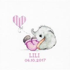 Cross stitch kit Baby girl B1133