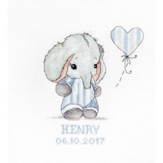 Cross stitch kit Baby boy B1134