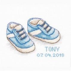 Cross stitch kit Baby Shoes B1138