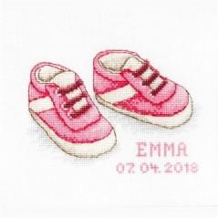 Cross stitch kit Baby Shoes B1139