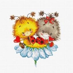 Cross stitch kit Ladybirds B1141