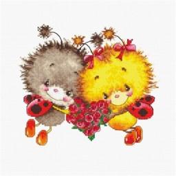 Cross stitch kit Ladybirds B1142