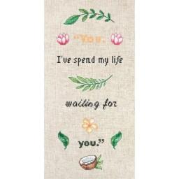 Cross Stitch Kit Slogan B1159