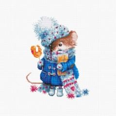 Cross stitch kit Christmas Mouse B1168