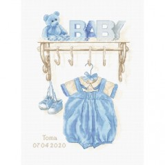 Cross stitch kit Baby Boy Birth B1174