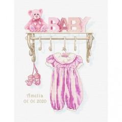 Cross stitch kit Baby Girl Birth B1175