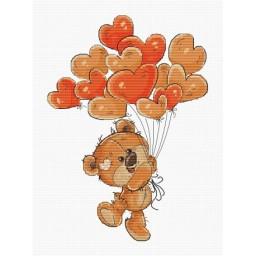 Cross stitch kit Teddy-Bear B1176