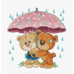 Cross stitch kit Under Umbrella B1178